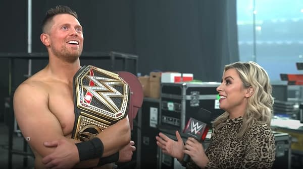 The Miz basks in the glory of his WWE Championship win after Elimination Chamber with Sarah Schreiber.