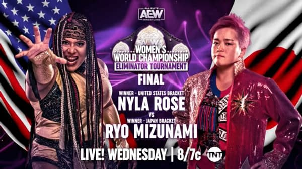 Nyla Rose will face Ryo Mizunami in the finals of the AEW Women's Championship Eliminator Tournament on Dynamite this Wednesday at The Crossroads.