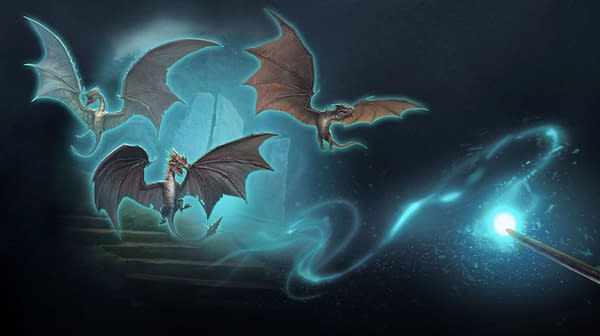 Ancient Dragons in Harry Potter: Wizards Unite. Credit: Niantic