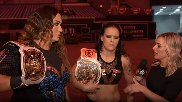 Nia Jax and Shayna Baszler talk their upcoming WWE Women's Title Match on NXT against Raquel Gonzalez and Dakota Kai.