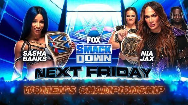 Nia Jax will challenge Sasha Banks for the Smackdown Women's Championship next week.