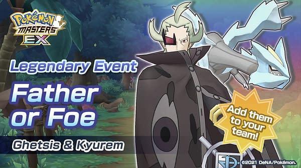 Ghetsis & Kyurem in Pokémon Masters EX. Credit: DeNA
