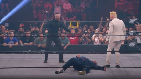 In one of many cheap shots against WWE by AEW Dynamite: Road Rager, Aleister Black made his surprise debut.