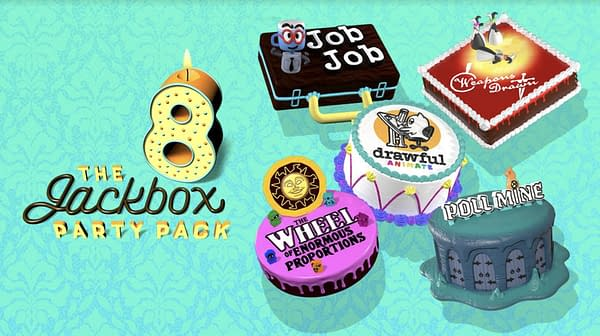 An all-new set of games to play with friends, near or far! Courtesy of Jackbox Games.