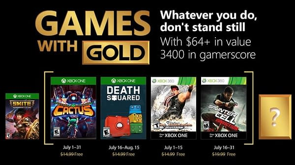 Xbox Shows Off Their Next Lineup for Games With Gold in July