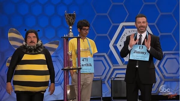 Jimmy Kimmel Challenges 2018 Scripps National Spelling Bee Champion – and It Doesn't Go Well