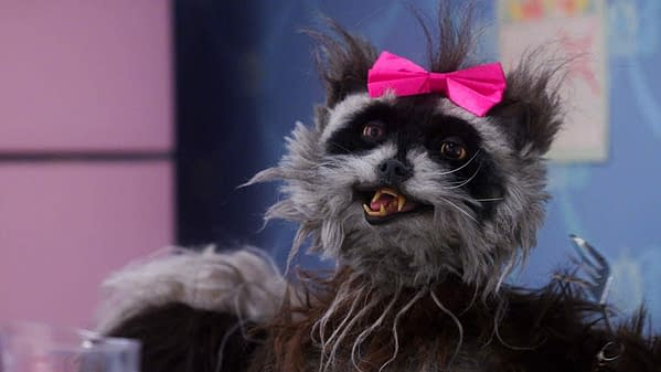 Happy Holidays from Rose the Taxidermy Raccoon-Fork-Hand-Skunk