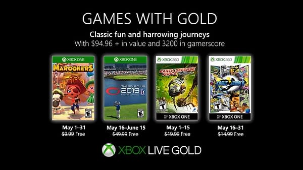 Xbox Games with Gold's May 2019 Lineup Announced
