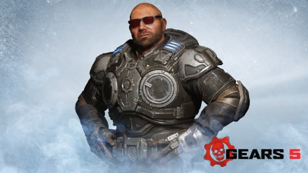 "Dave Batista Comes To ""Gears 5"" As A Multiplayer Character"