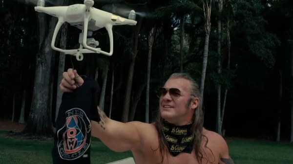 Chris Jericho makes an offer to Vanguard-1 on Dynamite, courtesy of AEW.