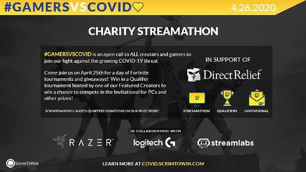 GamersVSCovid Fortnite Charity Streamathon