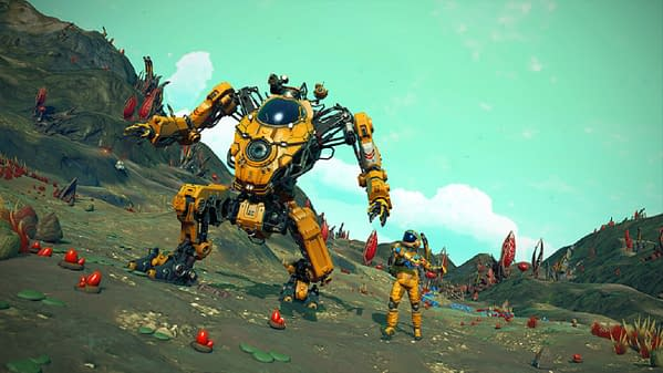 Now you can explore No Man's Sky in this fancy mech, courtesy of Hello Games.