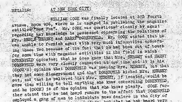 Harry Donenfeld's FBI File.