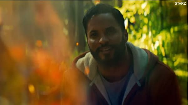 Ricky Whittle as Shadow Moon in American Gods, courtesy of STARZ.