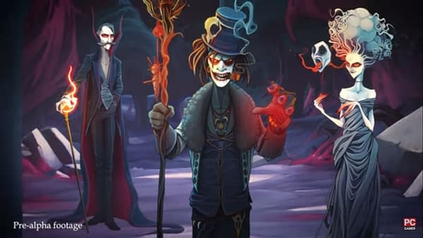 A shot of some of the wicked characters from Rogue Lords, a roguelike strategy game by Nacom, Cyanide Studios, and Leiklr Studios.