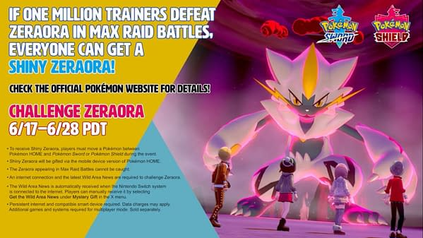 Detailed information about the Zeraora Raid Battles in Pokémon Sword and Pokémon Shield.