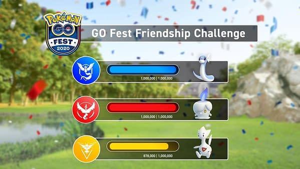GO Fest spawns update. Credit: Pokémon GO's Twitter account.