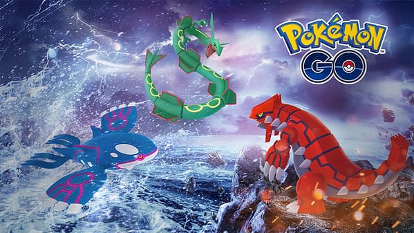 Three great choices for that Rare Candy come in Kyogre, Groudon, Rayquaza. Credit: Niantic.