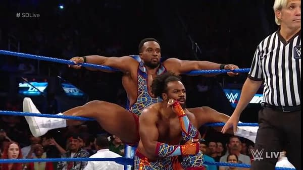 Austin Creed, better known as Xavier Woods, with fellow New Day member Big E.