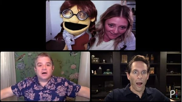 A.P. Bio stars Glenn Howerton and Patton Oswalt crash Zoom meetings (Image: NBCU)
