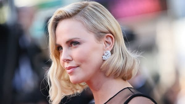 Charlize Theron attends the 70th Anniversary of the 70th annual Cannes Film Festival at Palais des Festivals on May 23, 2017