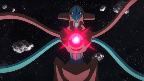 Deoxys still from the anime. Credit: Pokémon Official YouTube Channel