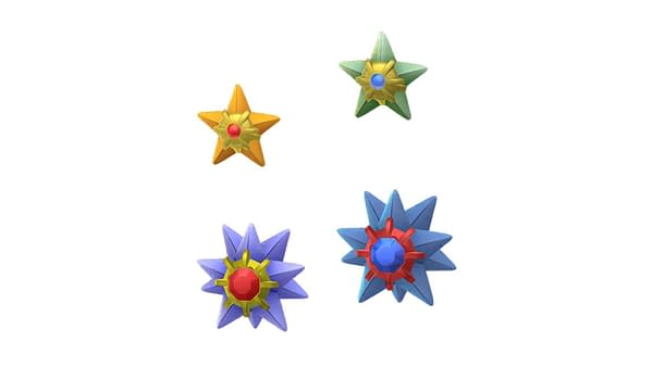 Shiny Staryu in Pokémon GO for Enigma Week. Credit: Niantic