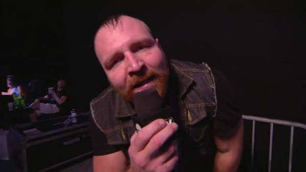 Tony Khan stares lovingly at Jon Moxley backstage at AEW Dynamite