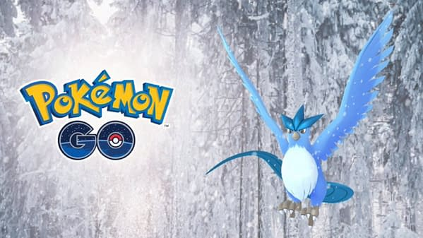 Articuno Has the Surprise Special Move Hurricane in Pokémon GO Raids. Credit: Niantic
