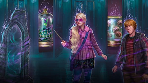 Wizards Unite's official art for Battle of the Department of Mysteries Brilliant Event Part 1. Credit: Niantic