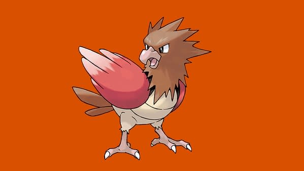 Spearow is the featured Pokémon for Spotlight Hour in Pokémon GO this week. Credit: The Pokémon Company