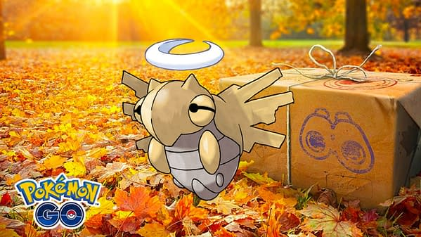 Pokémon GO's research breakthrough will feature Shedinja. Credit: Niantic & the Pokémon Company