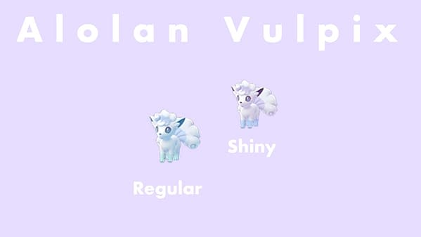 An Alolan Vulpix regular and Shiny comparison. Credit: Niantic