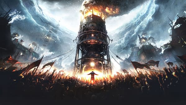 Stunning artwork featuring the cover art for Frostpunk's box. Frostpunk was recently funded tenfold on Kickstarter!