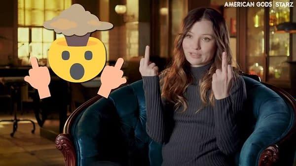 American Gods cast tease season 3 in emojis. (Image: STARZ screencap)