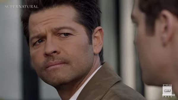 "Supernatural -- ""Despair"" -- Image Number: SN1518A_0461r.jpg -- Pictured (L-R): Misha Collins as Castiel -- Photo: Colin Bentley/The CW -- © 2020 The CW Network, LLC. All Rights Reserved."
