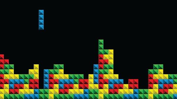 Game Tetris pixel bricks, illustration via ace03 / Shutterstock.com.