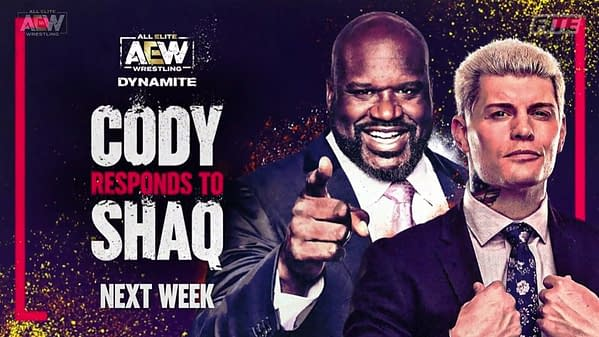 Cody will respond to Shaq on next week's episode of AEW Dynamite