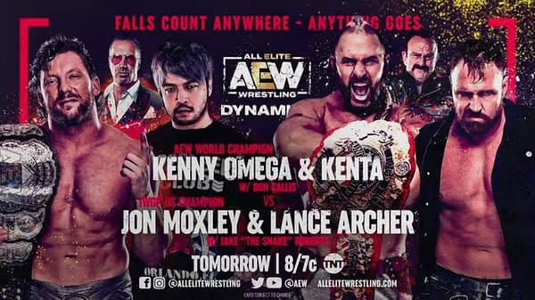 Kenny Omega and Kent team up to face Jon Moxley and Lance Archer tonight on AEW Dynamite