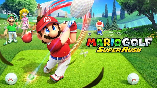 Speed your way to victory in Mario Golf: Super Rush, courtesy of Nintendo.