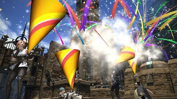 Check it, fantasy world party favors. Courtesy of Square Enix.
