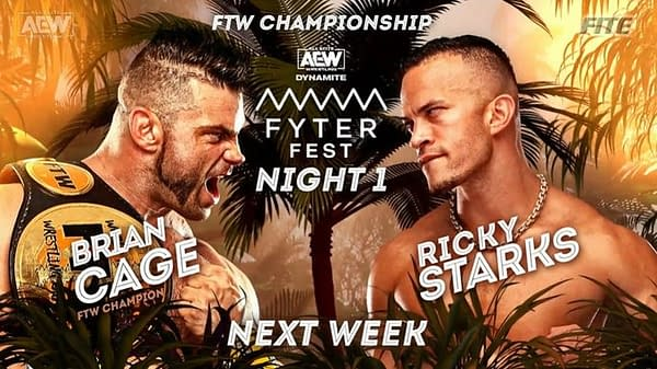 Team Taz may implode as Brian Cage faces Ricky Stark at AEW Dynamite: Fyter Fest Night 1 on Wednesday, July 14th.