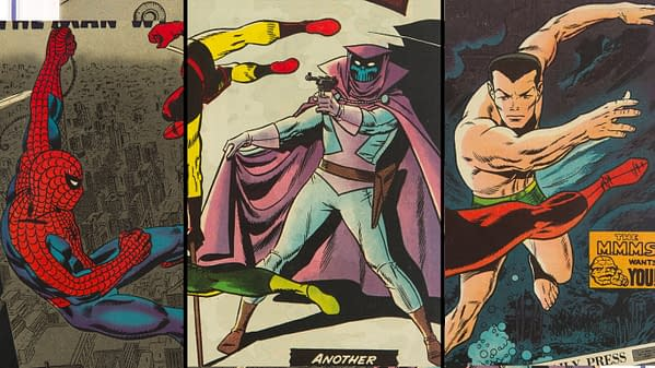 Cover details from Daredevil issues #6, 7 and 16 (Marvel, 1964/65).