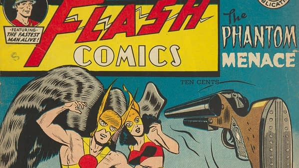 Flash Comics #91 (DC, 1948) featuring Hawkman and Hawkgirl.