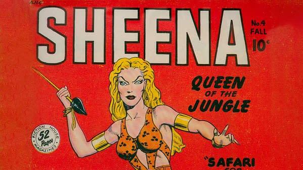 Sheena, Queen of the Jungle #4, Fiction House 1948.