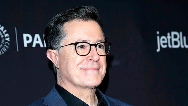 "Stephen Colbert at the PaleyFest - ""An Evening With Stephen Colbert"" Event at the Dolby Theater on March 16, 2019 in Los Angeles, CA, photo credit: Kathy Hutchins / Shutterstock.com."