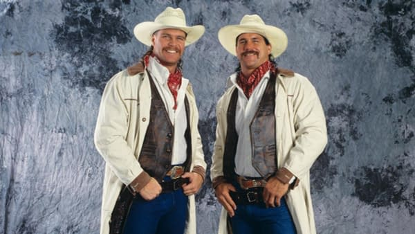 James Gunn (left), with brother Sean Gunn (right)