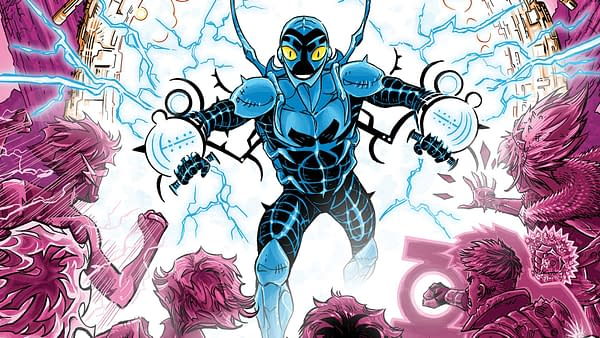Cover to Blue Beetle #13 by Scott Kolins
