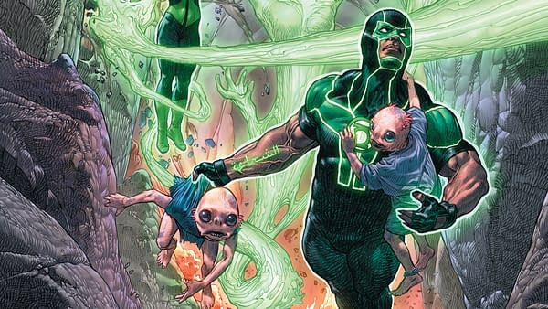 Green Lanterns #33 cover by Riccardo Federici and Tomeu Morey