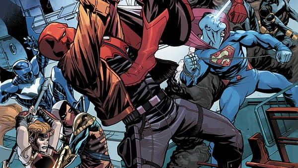 Red Hood and the Outlaws #15 cover by Mike McKone and Romulo Fajardo Jr.